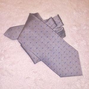 Armani Collezioni Necktit Tie Silver Silk Rayon 59